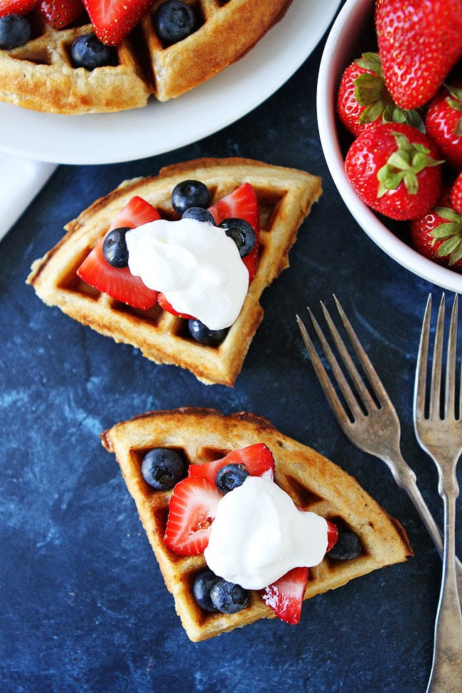 Belgian Waffles from scratch are an easy and delicious breakfast