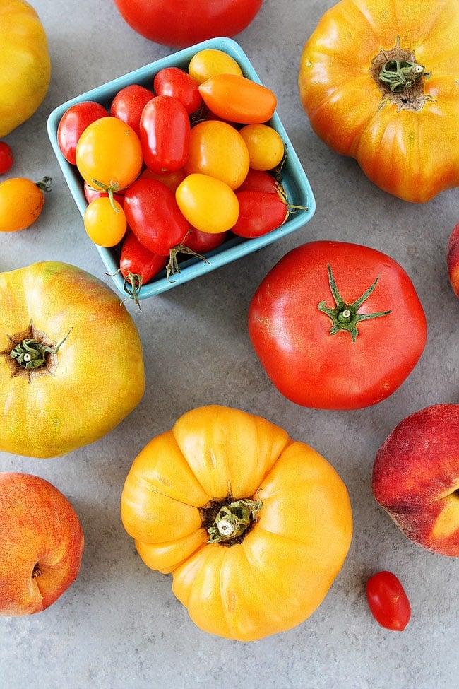 Fresh tomatoes for Easy Caprese Salad Recipe