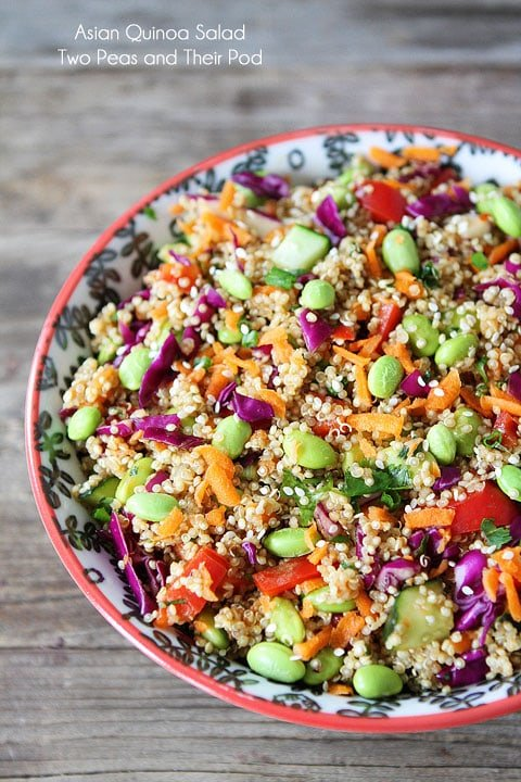 Asian Quinoa Salad is the perfect easy weeknight dinner