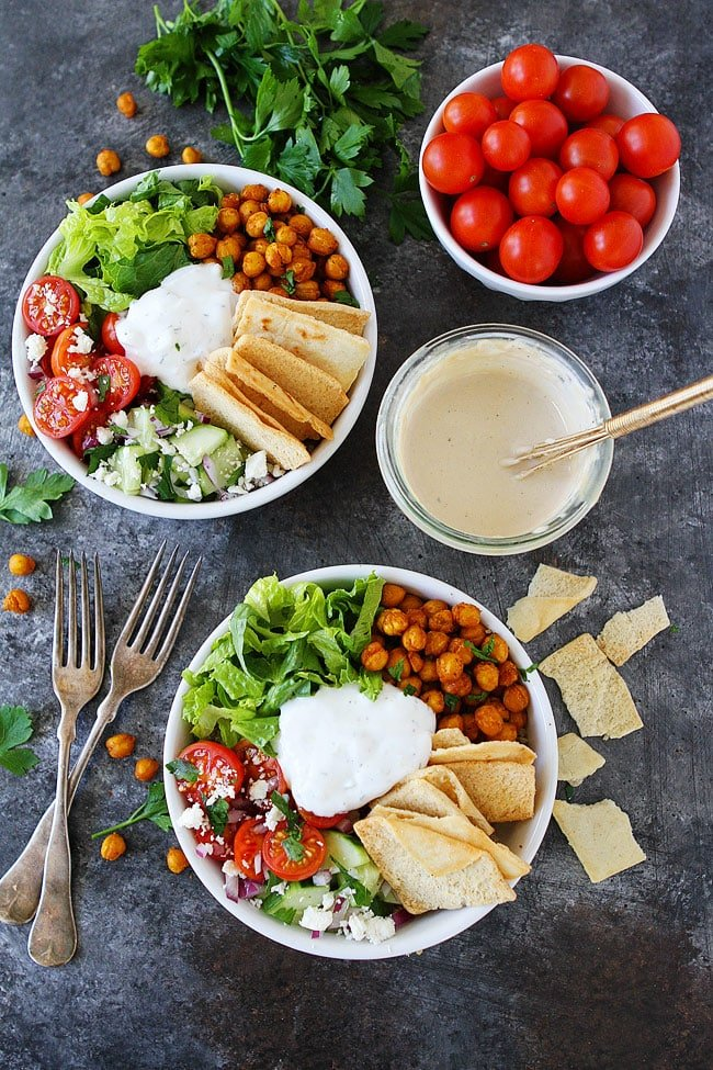 Chickpea Shawarma Bowls are a great healthy and easy vegetarian dinner.