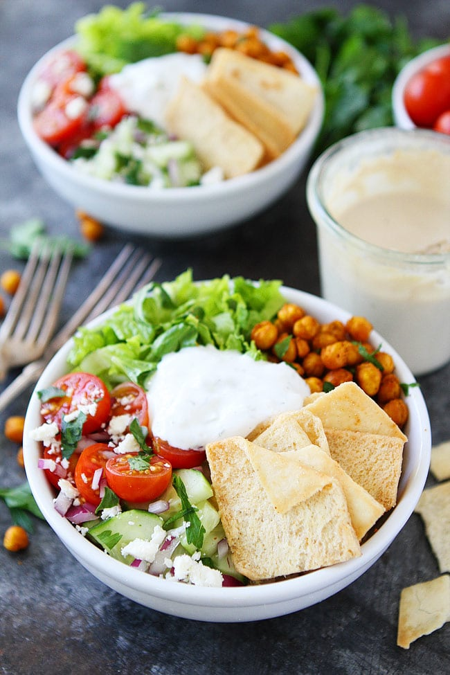 Chickpea Shawarma Bowls are a great easy and healthy weeknight dinner.