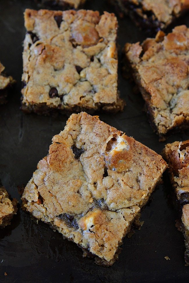 Marshmallow Toffee Blondies are a great dessert for parties or game day!