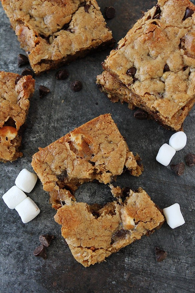 Marshmallow Toffee Blondies are a great easy dessert for parties or any day!