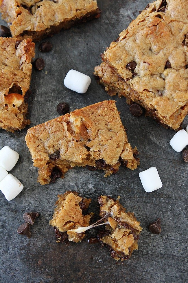 Marshmallow Toffee Blondies are chewy, gooey, and everyone's favorite dessert!