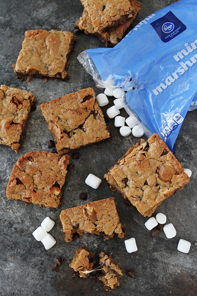 Marshmallow Toffee Blondies-you will love these easy, chewy blondies!