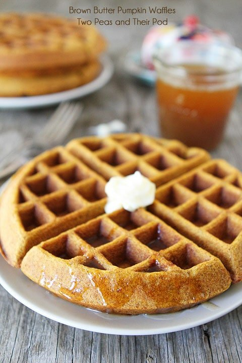 Brown Butter Pumpkin Waffles Recipe