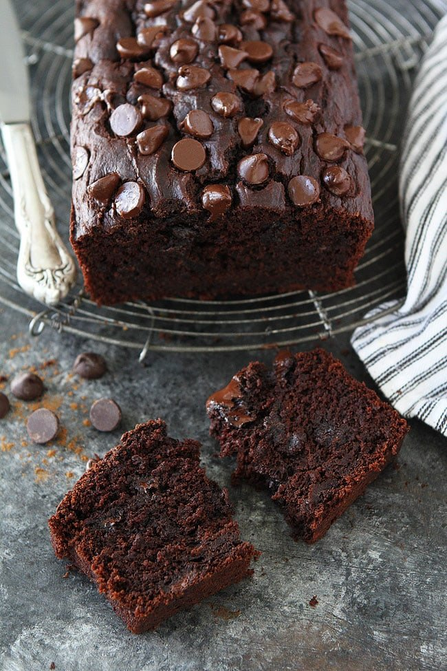 Chocolate Pumpkin Bread is moist and chocolaty with a hint of pumpkin and spices. It is the perfect quick bread for fall.