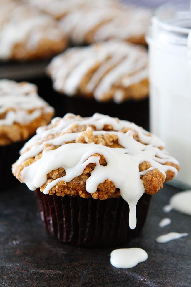 Pumpkin Cream Cheese Muffin Recipe with cream cheese filling