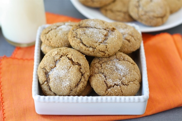 Pumpkin Gingersnap Cookies