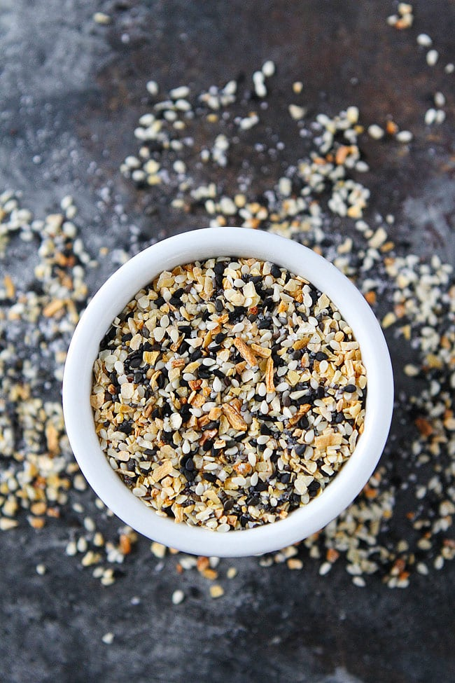 Everything Bagel Seasoning is easy to make at home! You only need 5 minutes and 5 ingredients!