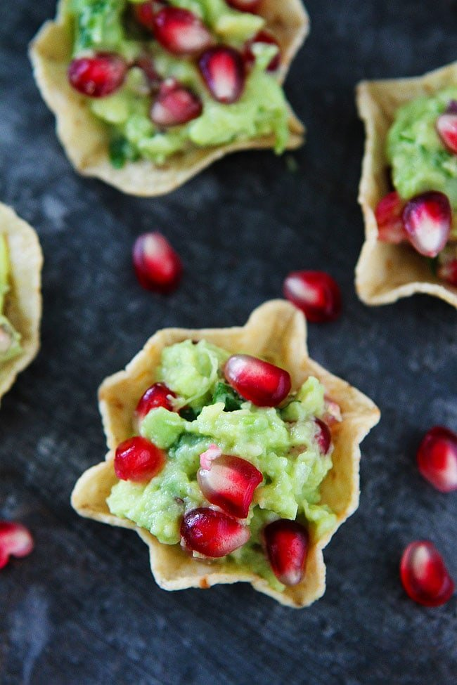 Pomegranate Guacamole is gluten-free, vegan, and an easy holiday appetizer.