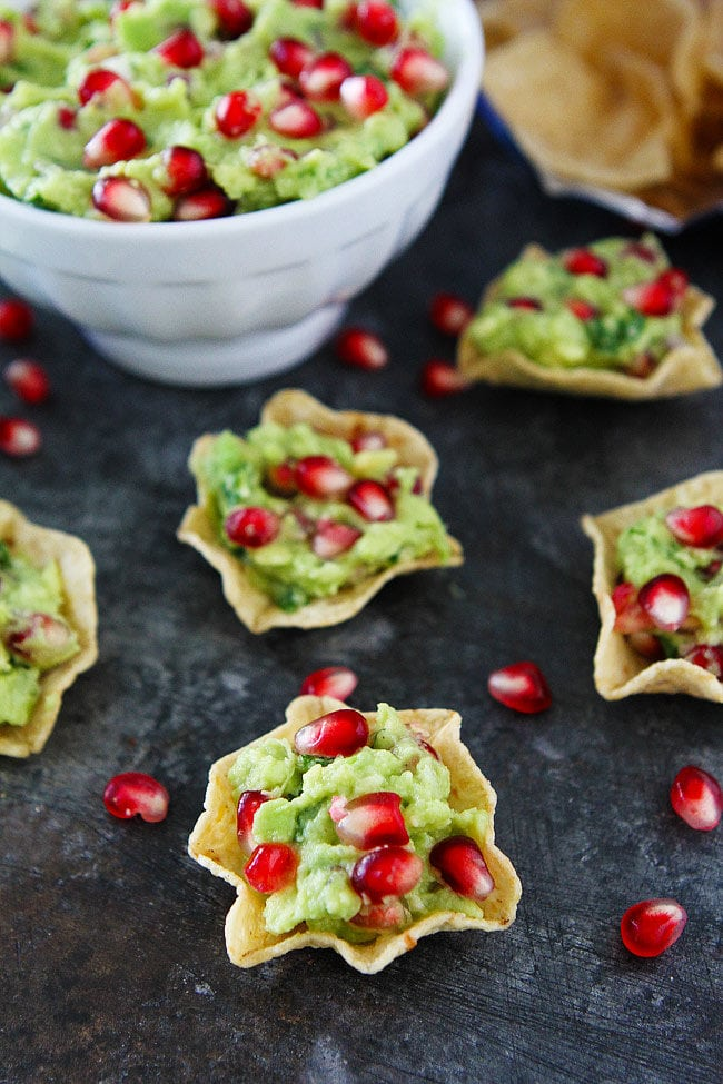 Pomegranate Guacamole is the perfect holiday appetizer.
