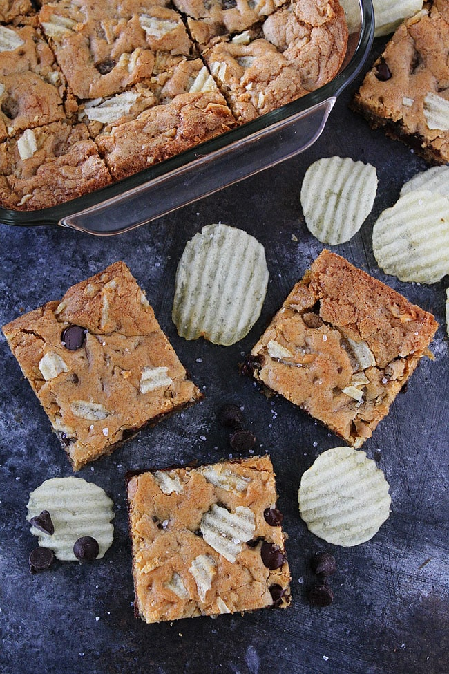 Potato Chip Chocolate Chip Blondies