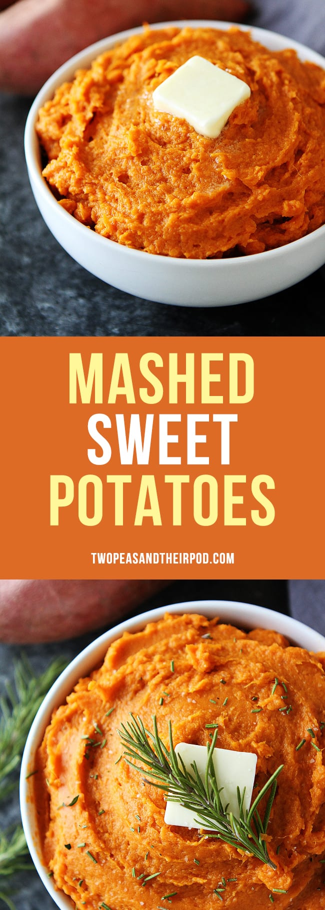 The BEST mashed sweet potatoes! They are the perfect holiday side dish! #sweetpotatoes #Thanksgiving #holidays