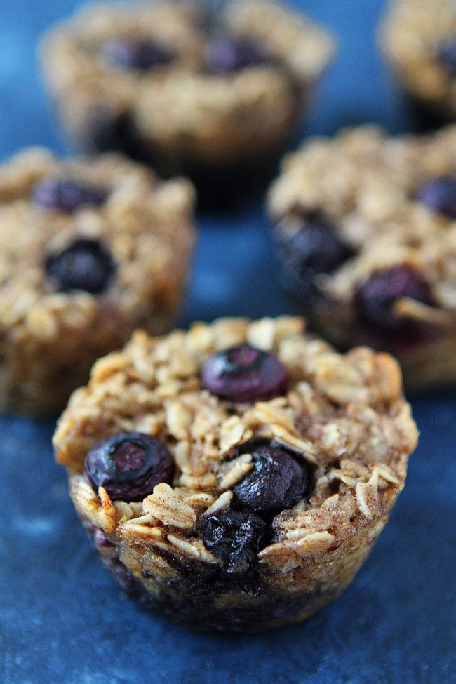 Baked Banana Blueberry Oatmeal Cups