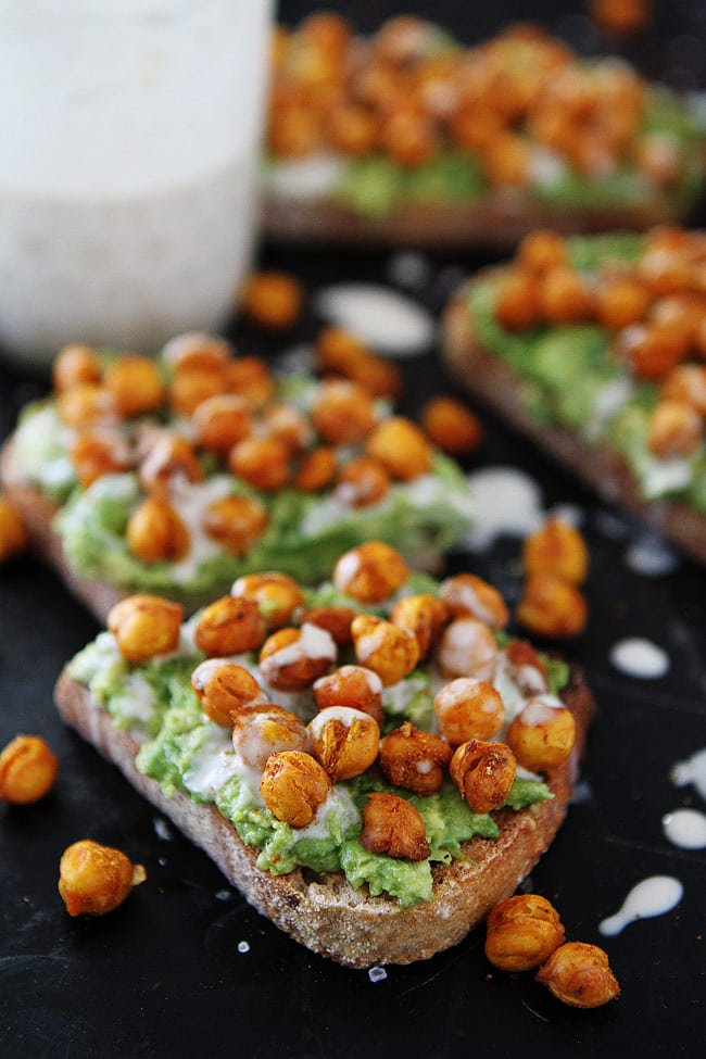 Easy Roasted Chickpea Avocado Toast