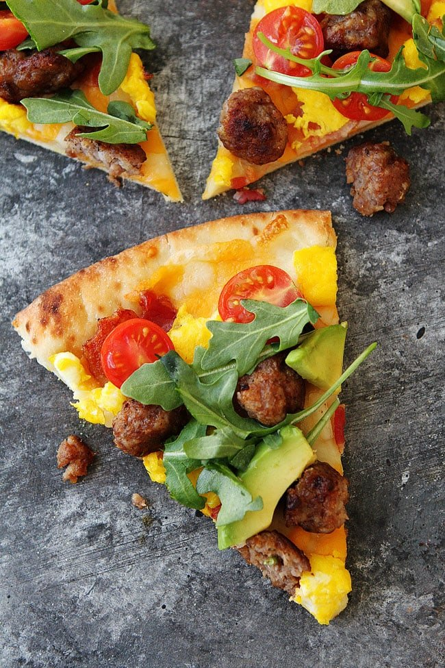 Easy Breakfast Pizza slice