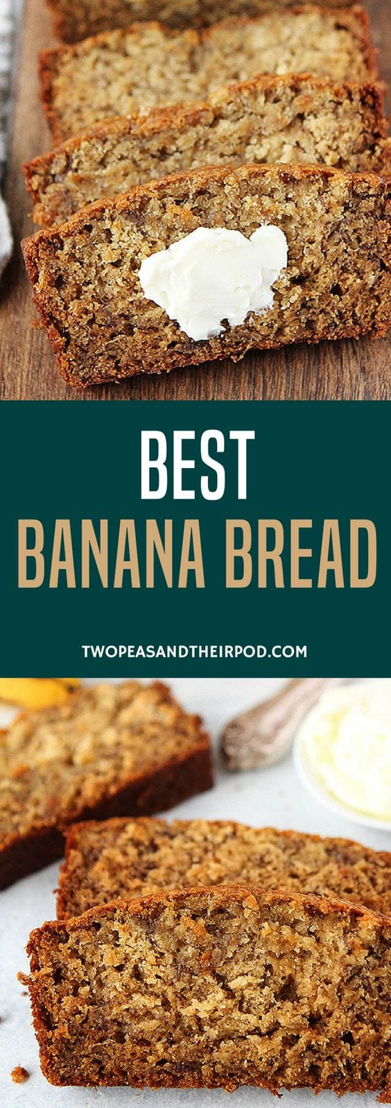 Tips For Turning Your Brown Bananas Into The Best Banana Bread EVER! This Classic Banana Bread Recipe Is Easy To Make And A Family Favorite! It Is Guaranteed To Be Your Go To Banana Bread Recipe! #bananabread #bananas #bread #breadrecipe #quickbread #baking