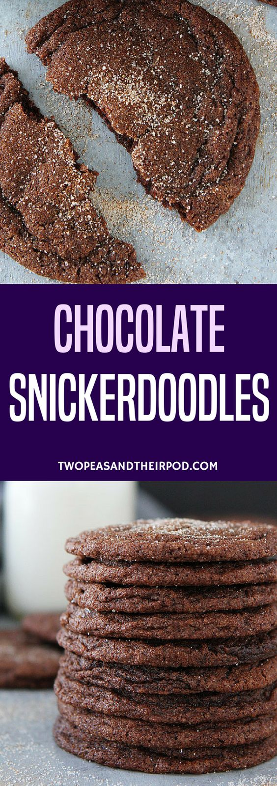 Chocolate Snickerdoodles are soft, chewy, and will remind you of classic snickerdoodles but with chocolate! Chocolate lovers will LOVE these cookies! #cookies #snickerdoodles #baking #chocolate