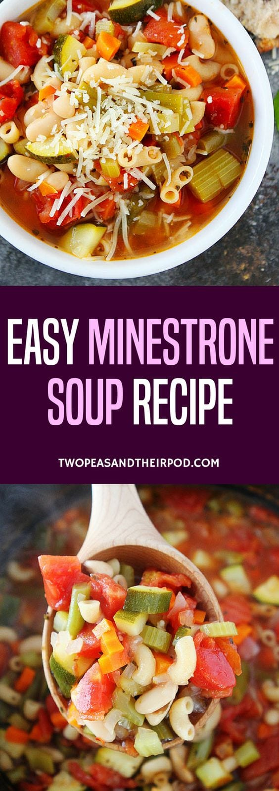 Easy Minestrone Soup-this classic Italian soup is a family favorite! Enjoy it for lunch or dinner! #vegetarian #soup #minestrone #easyrecipe #healthyrecipes