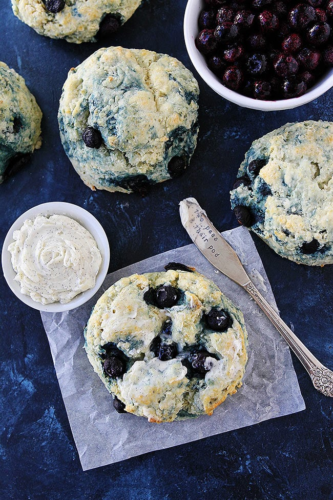 Blueberry Cream Cheese Biscuits for breakfast