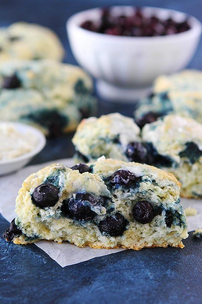 Blueberry Cream Cheese Biscuit half