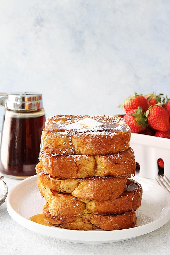 French Toast stack on plate