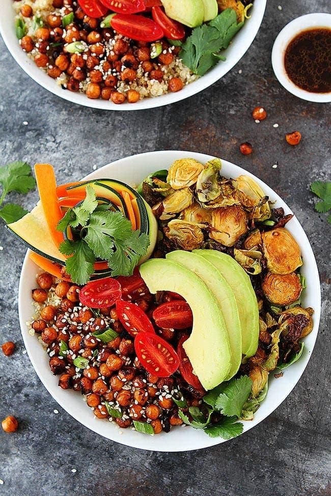 Healthy Korean BBQ Chickpea Bowls