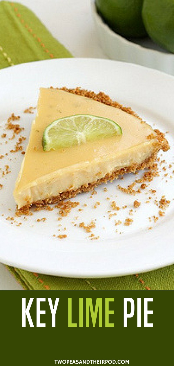 This Easy Key Lime Pie with a simple graham cracker crust is a dessert favorite! It is perfectly tart, creamy, and smooth! It is a especially delicious dessert during the summer months. This dessert screams summer! Enjoy! #keylimepie #pie #dessert #lime