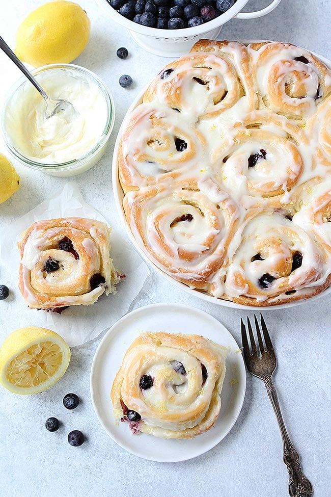 Lemon Blueberry Sweet Rolls Recipe