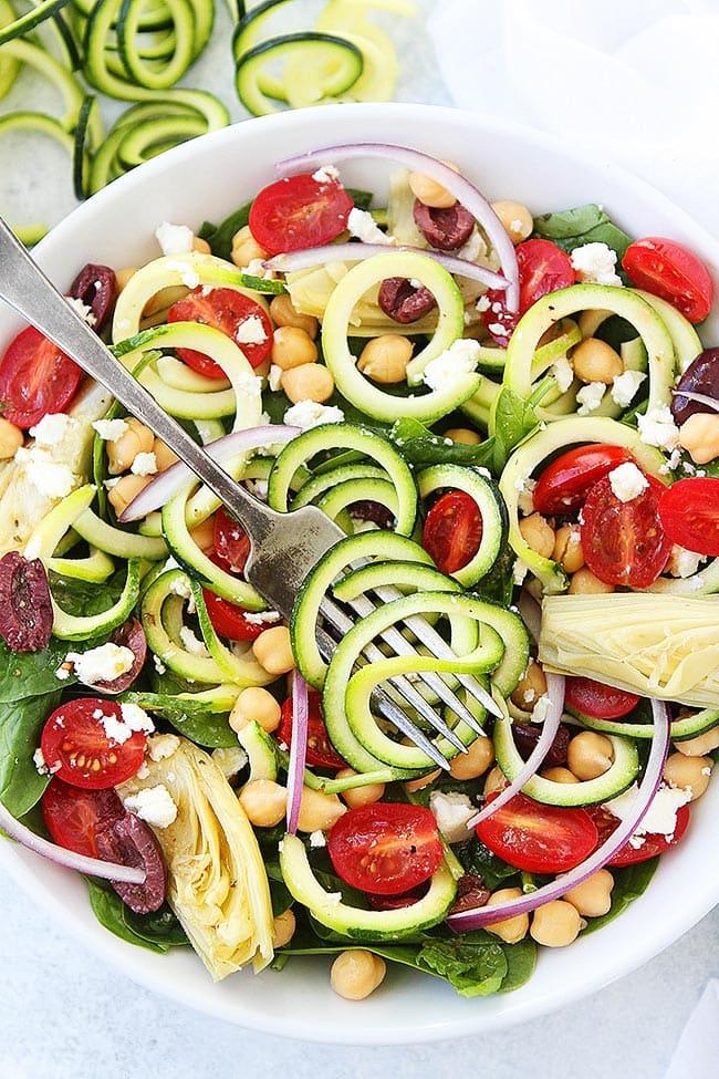 Mediterranean Zucchini Noodle Salad
