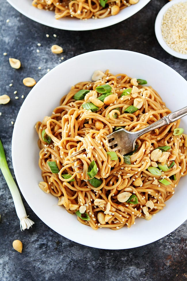 Cold Sesame Noodles in bowl