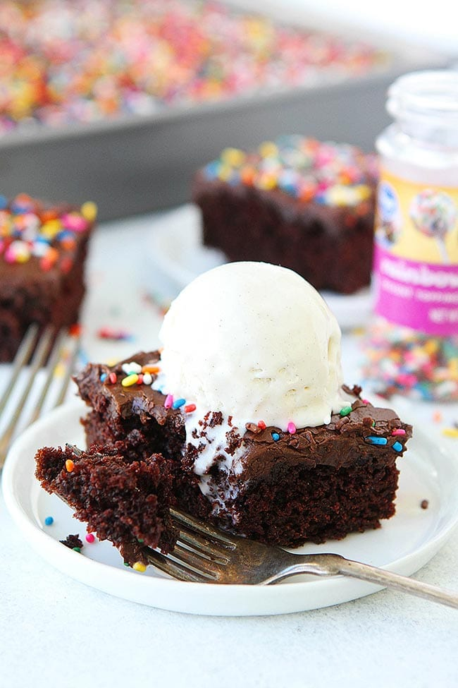Chocolate Pudding And Sourcream Cake