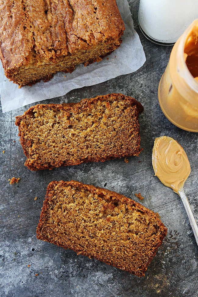Peanut butter banana bread recipe two peas their pod peanut butter banana bread recipe forumfinder Choice Image