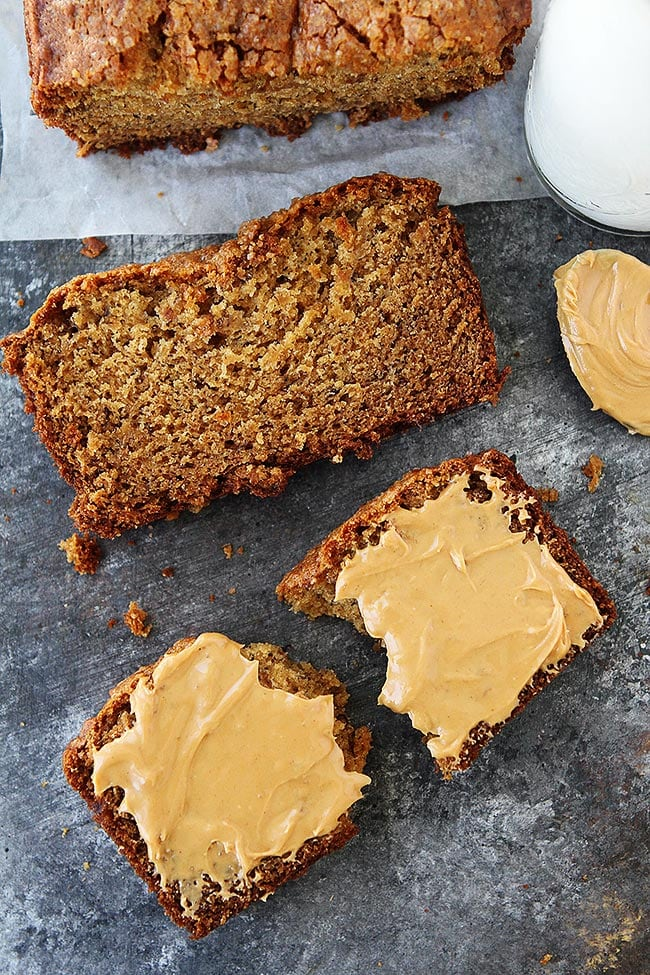 Easy Peanut Butter Banana Bread