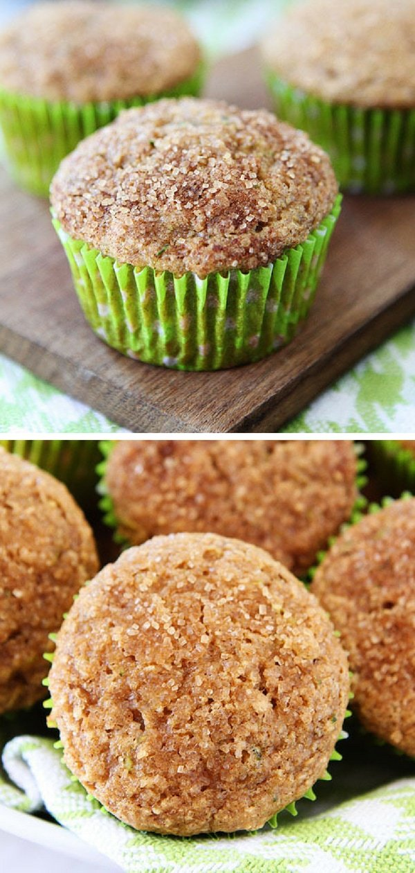Apple Zucchini Muffins - A great recipe for using up your summer zucchini. #zucchini #muffins #healthy #snacks Visit twopeasandtheirpod.com for more simple, fresh, and family friendly meals. #familyfriendlymeals