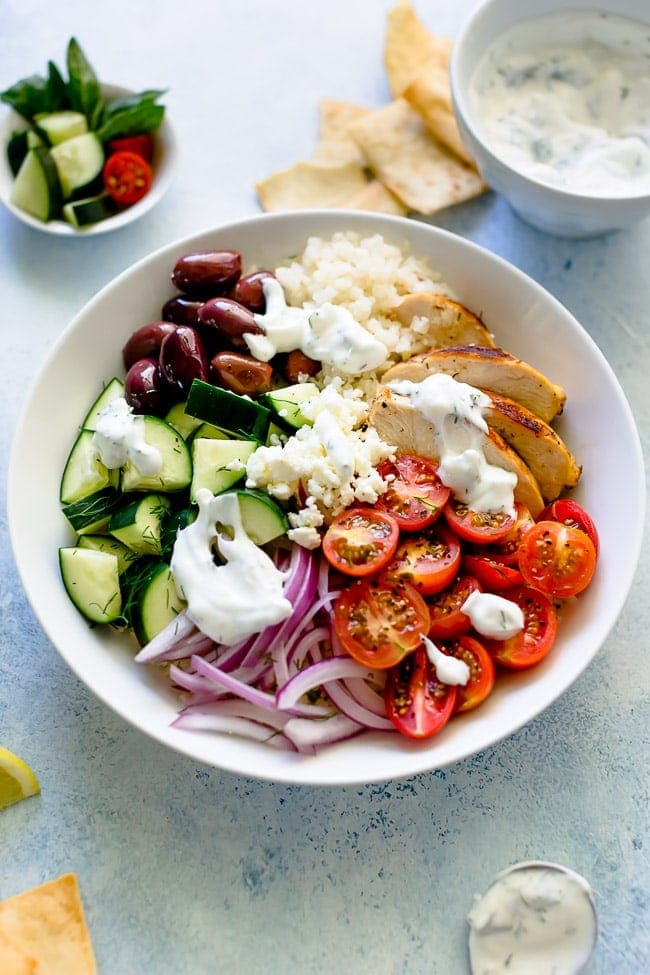 Greek Chicken Bowls Recipe