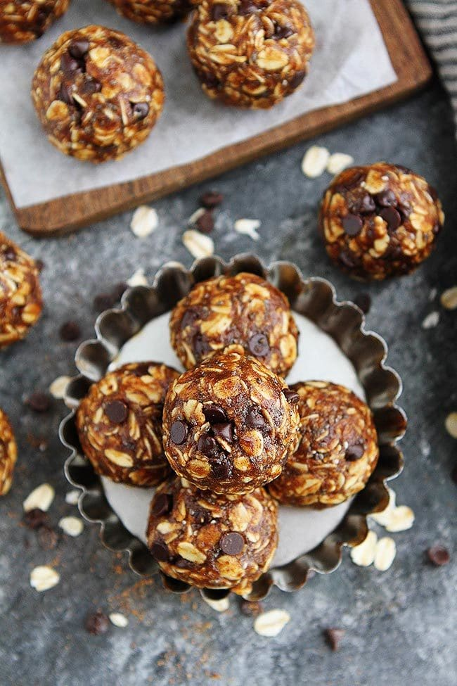 No Bake Pumpkin Energy Balls