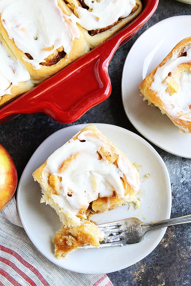 Apple Cinnamon Rolls with Brown Butter Frosting