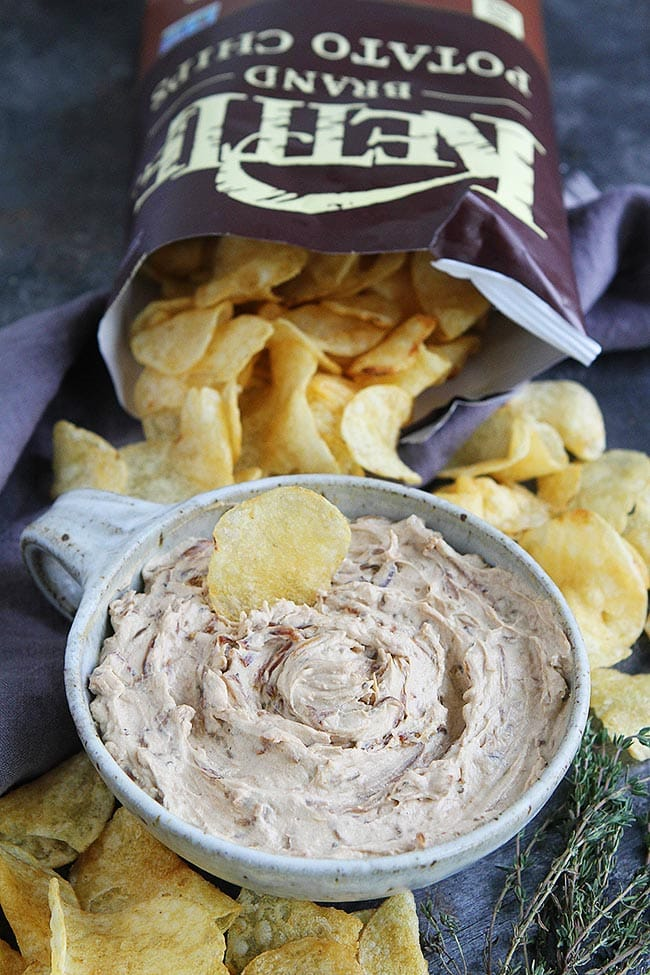Onion Dip with chips