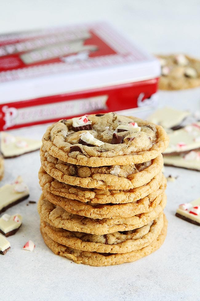 Peppermint Bark Chocolate Chip Cookie Recipe