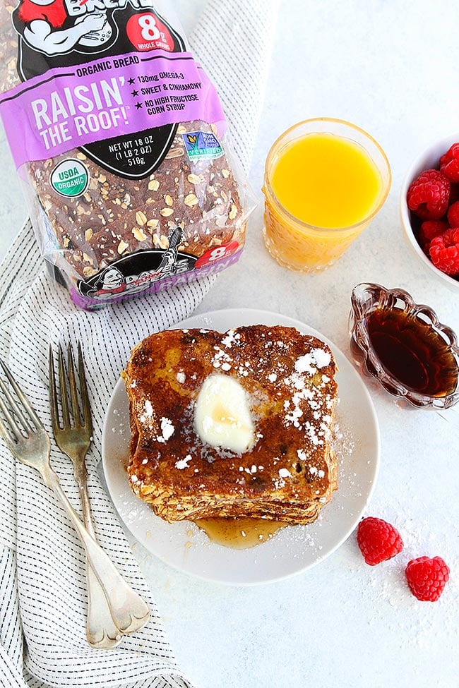 Cinnamon Raisin French Toast for breakfast