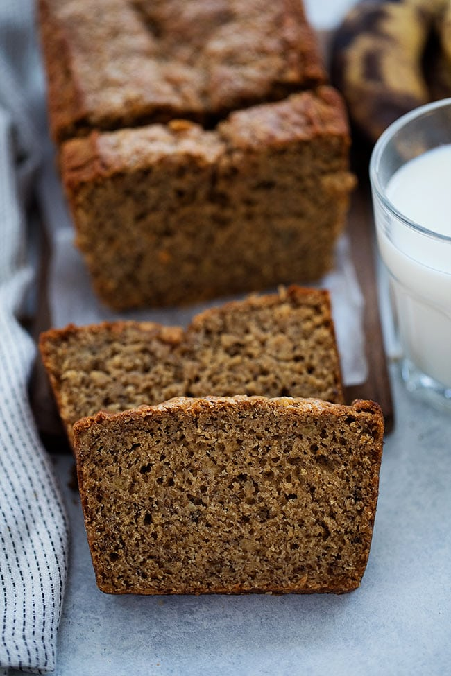 Healthy Banana Bread slices
