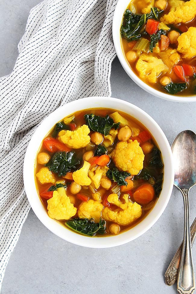 Turmeric Chickpea Vegetable Soup