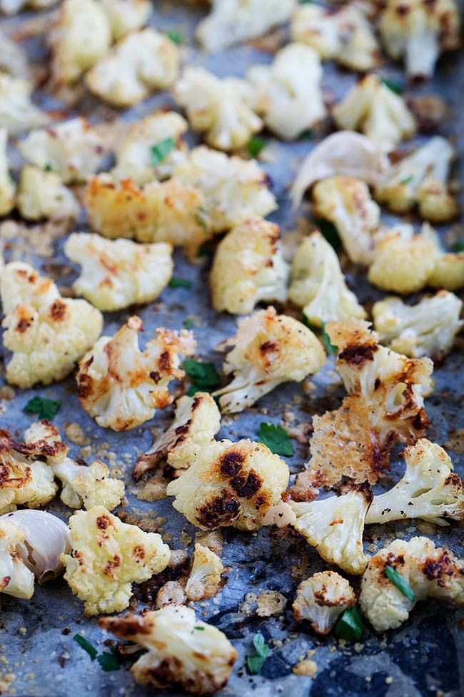 Easy Parmesan Roasted Cauliflower Recipe