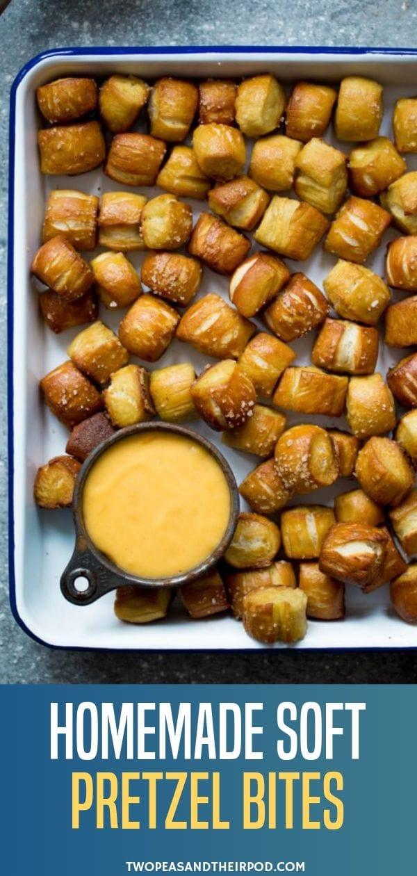 Homemade Soft Pretzel Bites Pretzel Bite Recipe