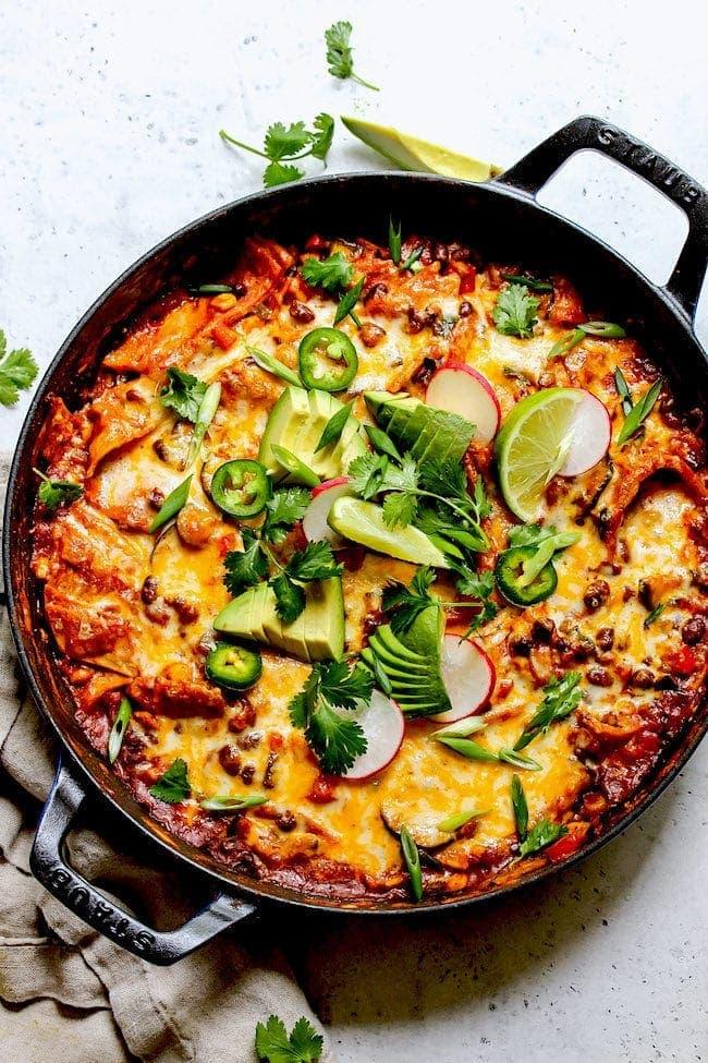 Skillet Vegetarian Enchiladas
