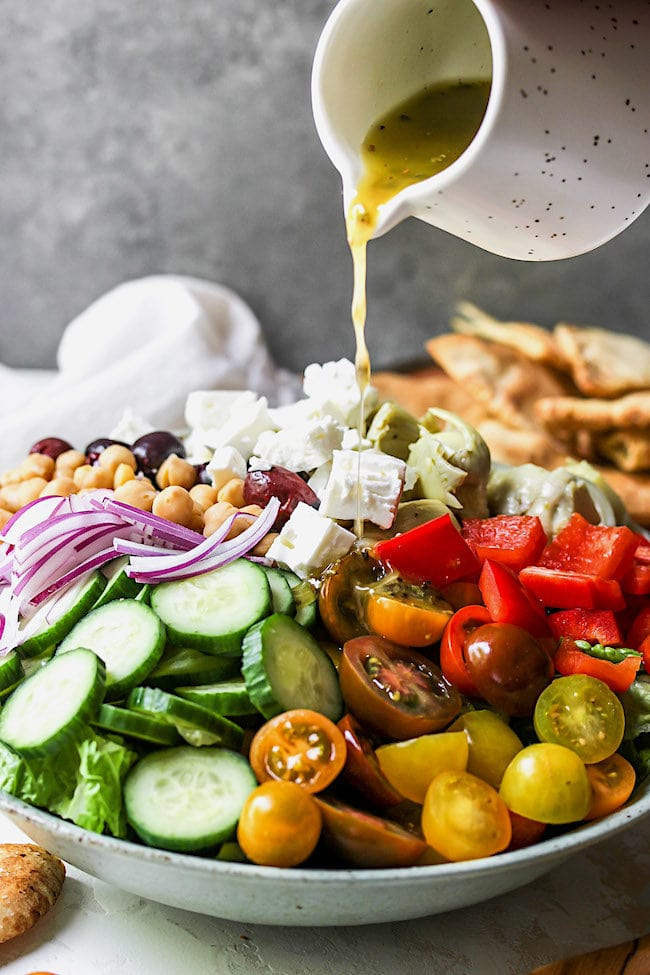 Chopped Greek Salad with Greek Vinaigrette