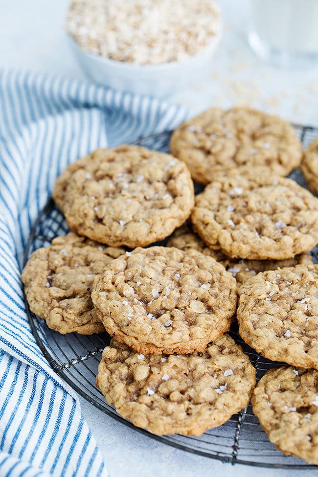 Best Oatmeal Cookies with sea salt