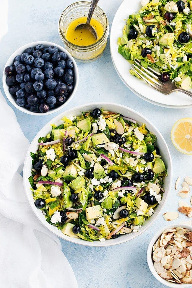 Blueberry Brussels Sprout Salad